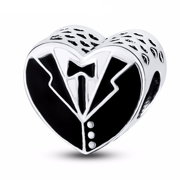 The Gentleman's Heart Charm (fits Pandora)