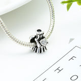 Crystal Clear Angel's Heart Charm (Fits Pandora)