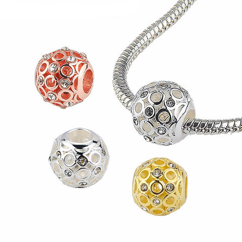 Jeweled Globe Charms (fits Pandora)