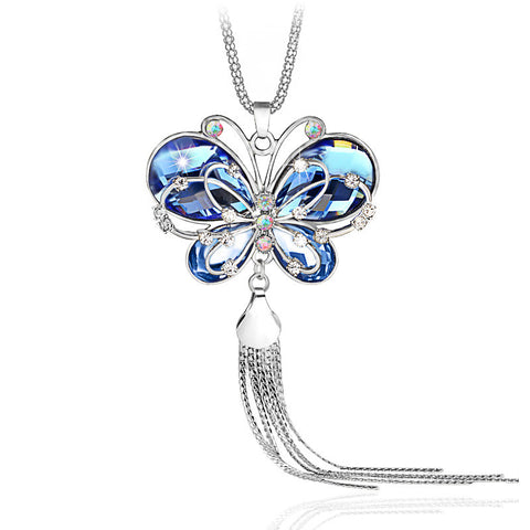 Morpheus Crystal Butterfly Pendant