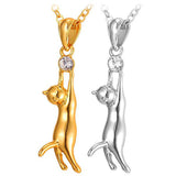 Hanging Kitten Necklace & Pendant