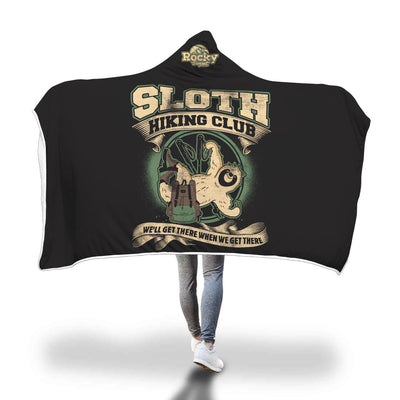 Hiking Sloth Hooded Blanket