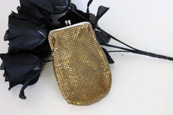 Vintage 1950s 1960s Gold Mesh Cigarette Case by Whiting And Davis