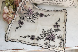 Floral Embroidered 1920s Hanky