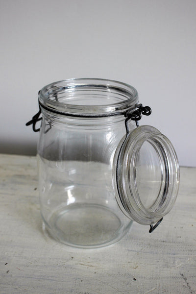Vintage Large French Mason Jar With Lid