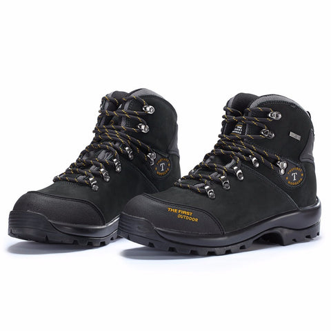 Mens Waterproof Winter Boots for Hiking Camping Climbing