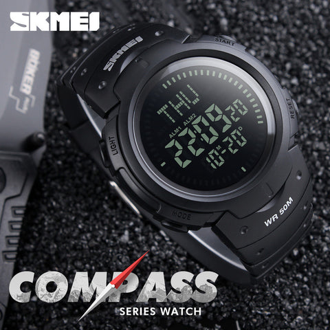 Outdoor Sports Compass Watches Hiking Mens Watches