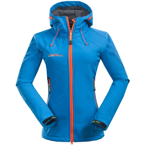 Women Softshell Hiking Jackets Camping Thermal Waterproof