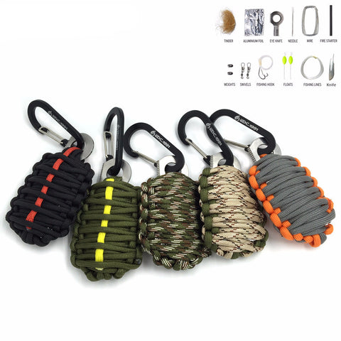 Survival Kits Paracord fishing tools perfect for Camping Backpacking Hiking