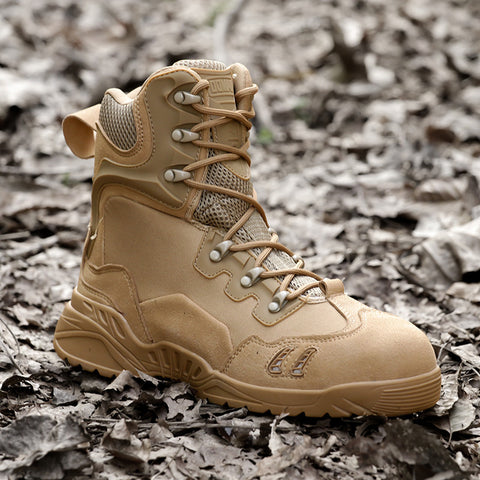 Mens Military Outdoor leather Boots