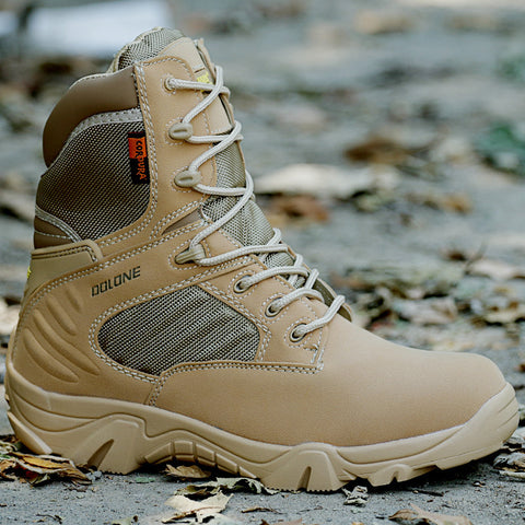 Mens desert camouflage military boots