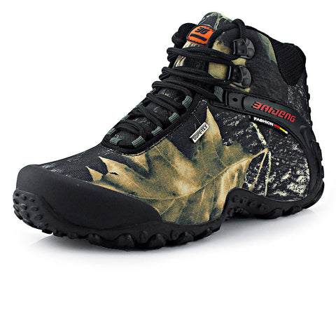 Canvas Hiking Boots Breathable Waterproof