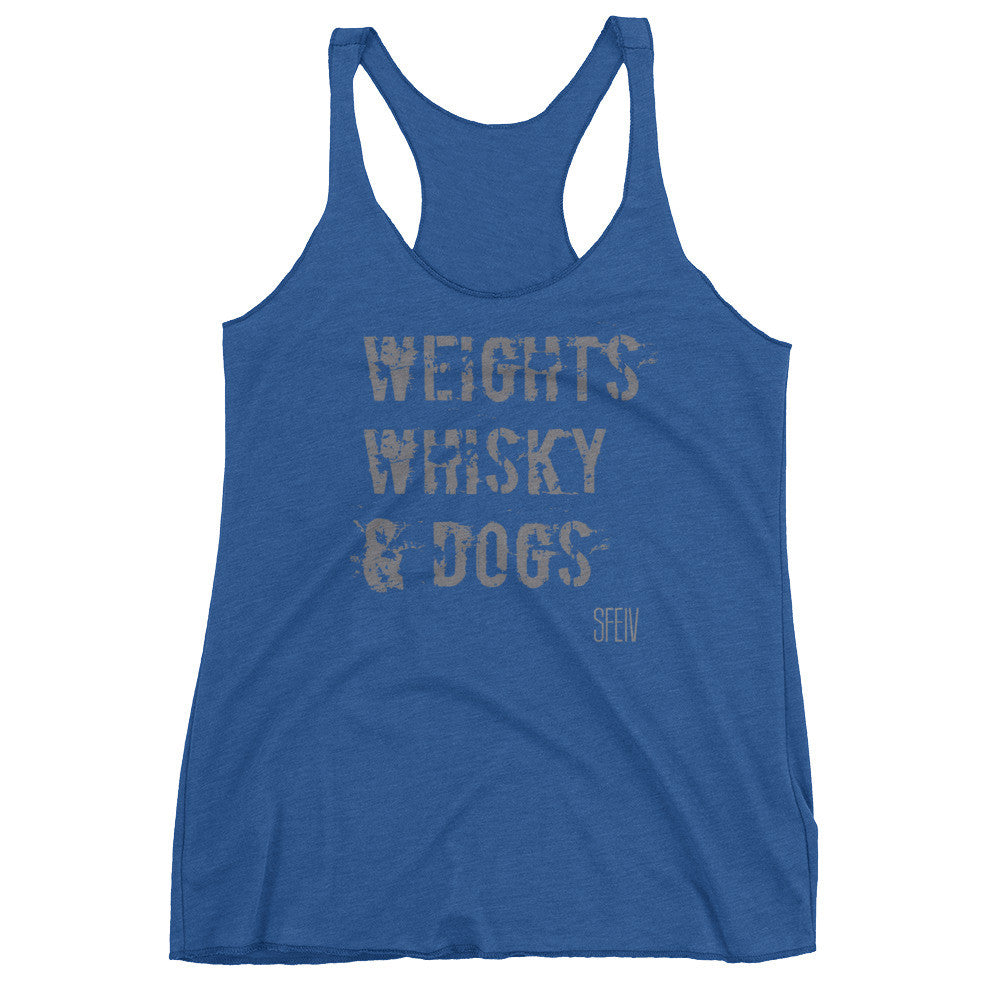 Weights, Whisky & Dogs SFElV Women's tank top