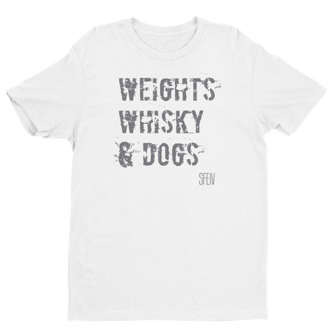 Weights, Whisky & Dogs SFELV Short sleeve men's t-shirt