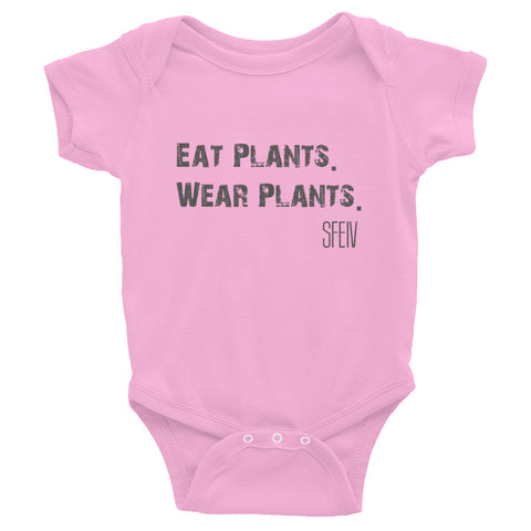 Eat Plants. Wear Plants. SFELV Infant Bodysuit