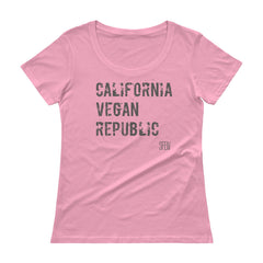California Vegan Republic SFELV Women's Scoopneck T-Shirt
