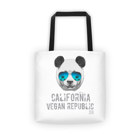 California Vegan Republic Panda SFElV Tote bag