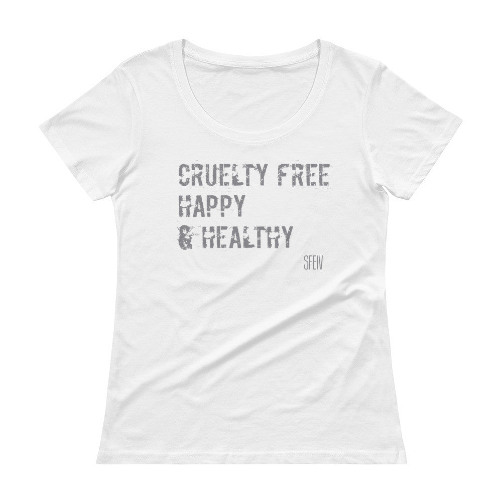 Cruelty Free, Happy & Healthy SFELV Women's Scoopneck T-Shirt