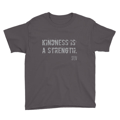 Kindness Is A Strength SFELV Boy's Short Sleeve T-Shirt