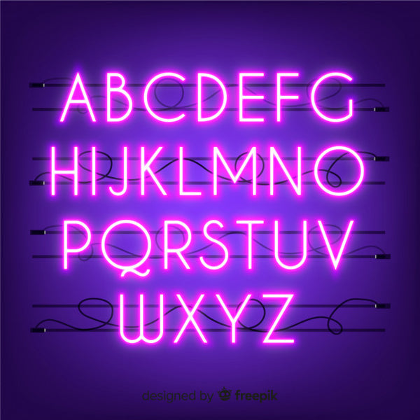 Neon Letters - Pink