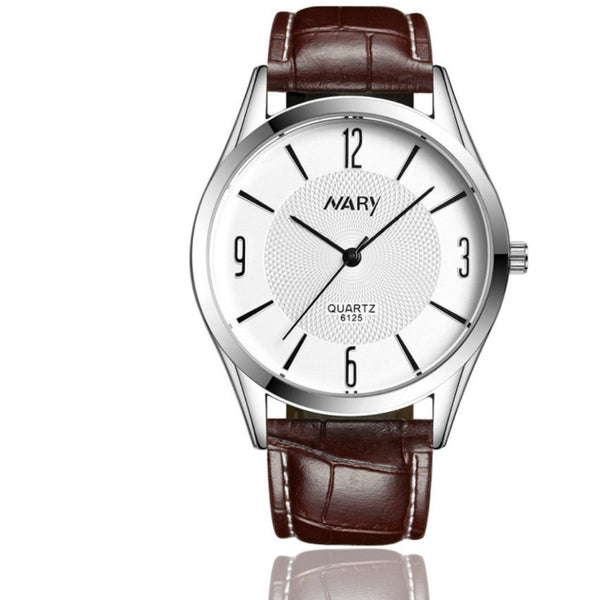 Silver-brown mens watch