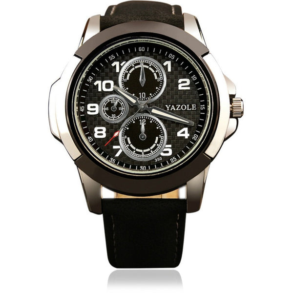 Black grey men watches yazole