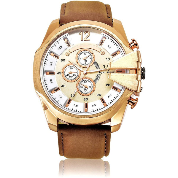 Men gold-brown watch