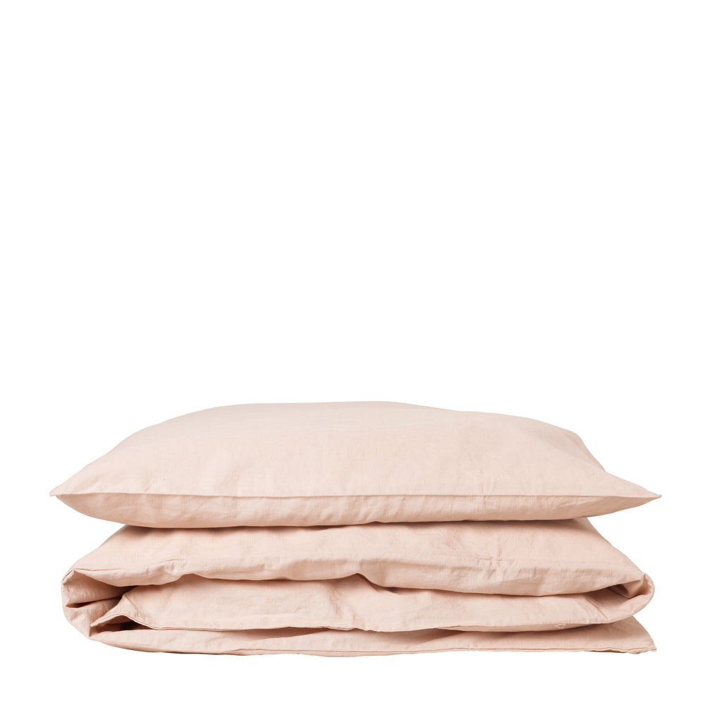 Single pillowcase linen (hør) Blush 65x65 cm