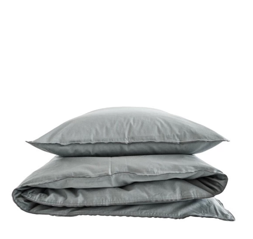 Single pillowcase grey/grey 80x80 cm