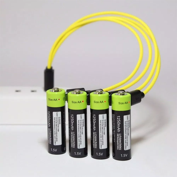 aa rechargeable batteries and charger