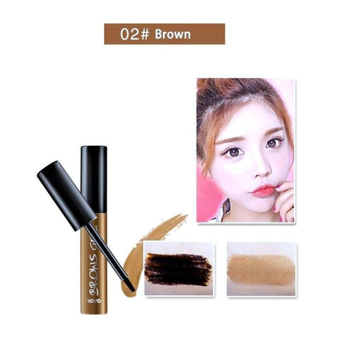 Peel Off Brown Black Eye Brow Tattoo Tint Waterproof Long-lasting Professional Eyebrow Gel Cream Mascara Eye Makeup Cosmetics - 36Bucks.com