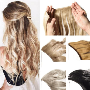 HairRitzy Invisible Halo Hair Extensions