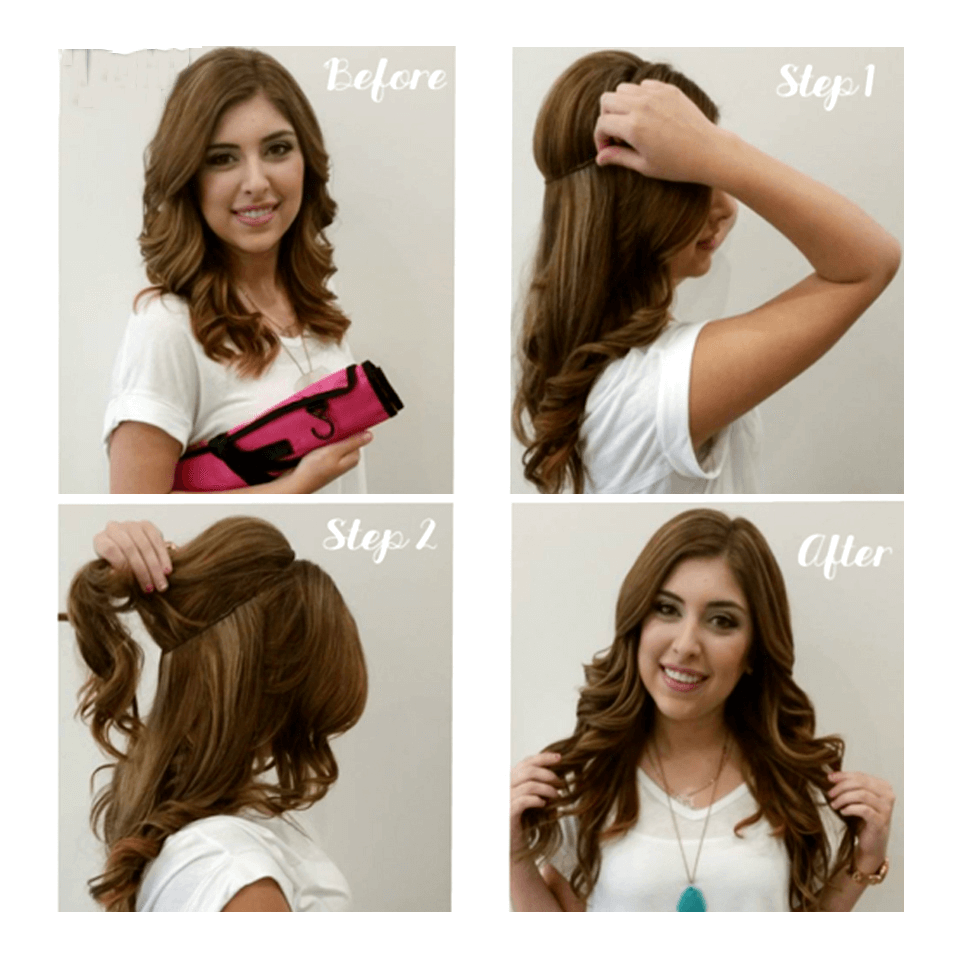 (NEW) HairRitzy Invisible CURLY Halo Hair Extensions (Red | Burgundy | Auburn) - 36Bucks.com
