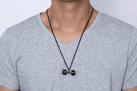 Hardcore Dumbbell Necklace - 36Bucks.com