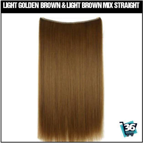 (NEW) HairRitzy Invisible STRAIGHT Halo Hair Extensions (Red | Burgundy | Auburn)