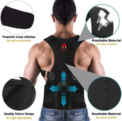 Image of (New) Magnetic Posture Corrector - Corrective Therapy Back Brace For Men & Women - 36Bucks.com