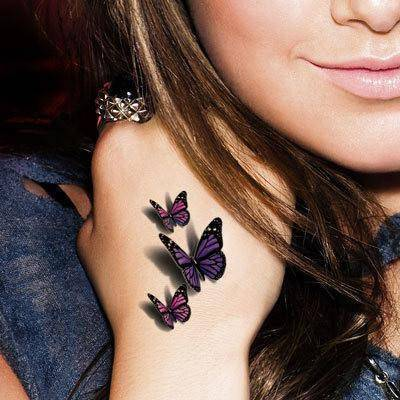 3D Temporary Butterfly Tattoo