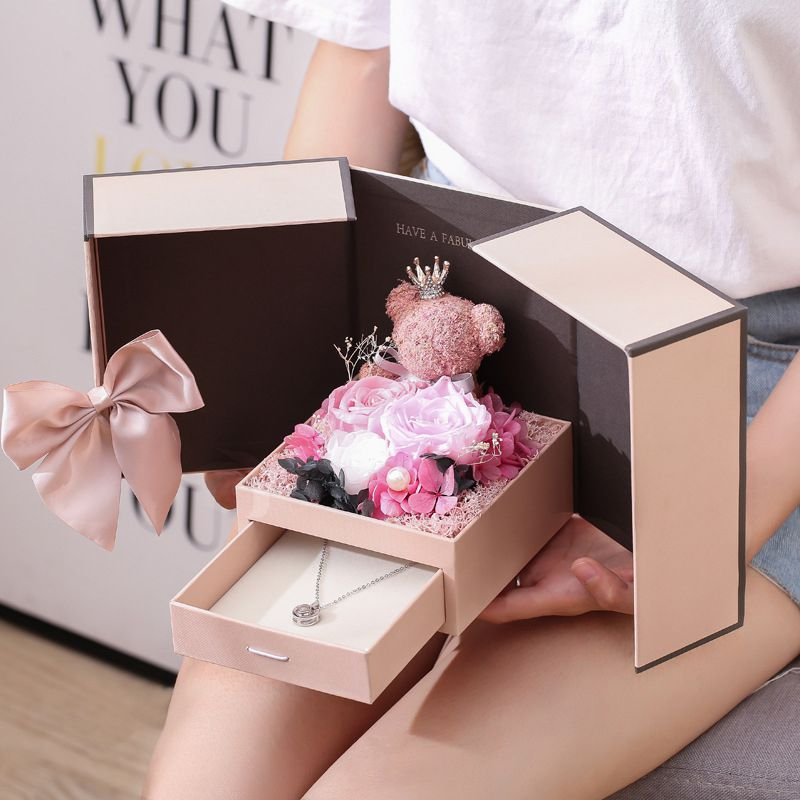 Rose Teddy Bear Gift Box (Valentine's Day Special) - 36Bucks.com