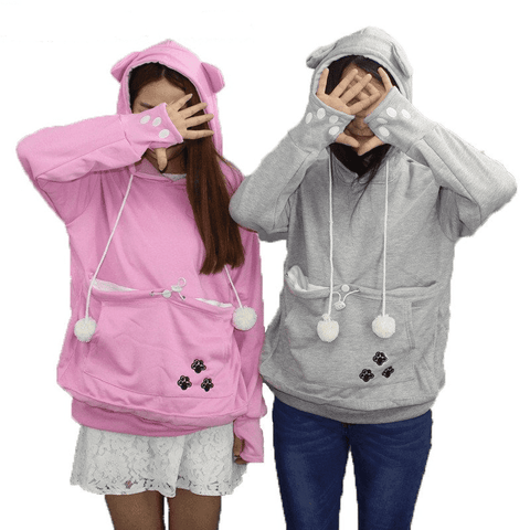 Cat/Dog Hoodies With Cuddle Pouch