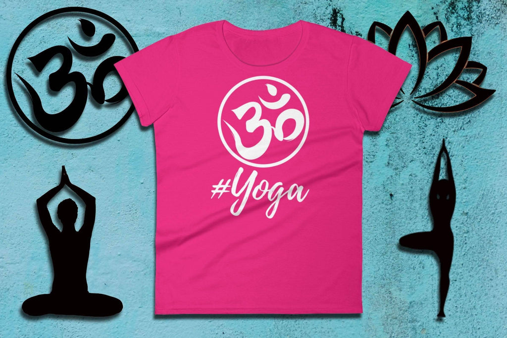 Namaste Shirts - #YOGA - Ladies Short Sleeve Tee | Namaste Clothing | Yoga Fashion Style | Namastay Tee | Yoga Gift For Mom | Yogawear - 36Bucks.com