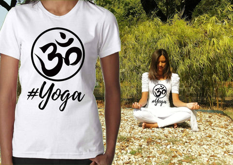 Image of Womens Namaste Shirt - #YOGA - Ladies Short Sleeve Tee | Matching Yoga Tee | Best Yoga Gifts | Namastay Tee | Namaste Shirts | Yoga Lovers - 36Bucks.com