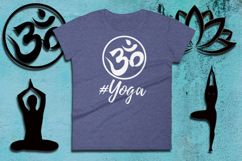 Image of Namaste Shirts - #YOGA - Ladies Short Sleeve Tee | Namaste Clothing | Yoga Fashion Style | Namastay Tee | Yoga Gift For Mom | Yogawear - 36Bucks.com