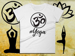 Womens Namaste Shirt - #YOGA - Ladies Short Sleeve Tee | Matching Yoga Tee | Best Yoga Gifts | Namastay Tee | Namaste Shirts | Yoga Lovers - 36Bucks.com