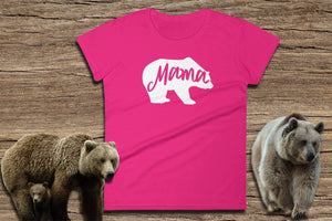 Mama Bear T-Shirt - Ladies Short Sleeve Tee | Momma Bear Tshirt | Mama Bear Clothes | Mama Bear T-Shirt | Momma Bear Shirt | Mama Bear Tee - 36Bucks.com