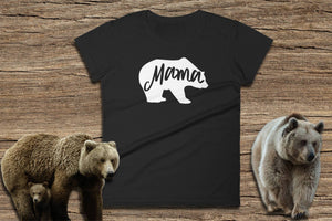 Mama Bear T-Shirt - Ladies Short Sleeve Tee | Momma Bear Tshirt | Mama Bear Clothes | Mama Bear T-Shirt | Momma Bear Shirt | Mama Bear Tee