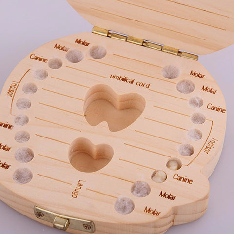 Image of Baby Wooden Milk Teeth Box - 36Bucks.com