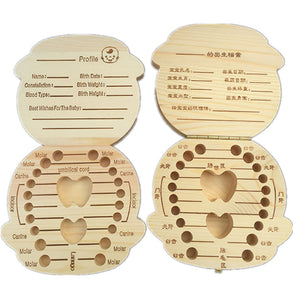 Baby Wooden Milk Teeth Box