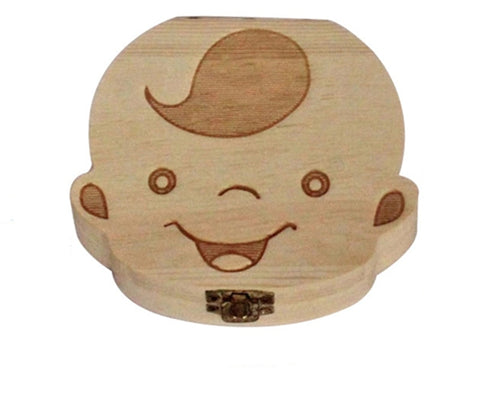 Baby Wooden Milk Teeth Box - 36Bucks.com