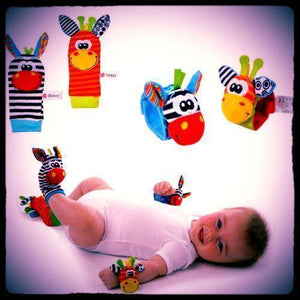 Baby Rattles - Wrist Strap and Foot Socks - 36Bucks.com