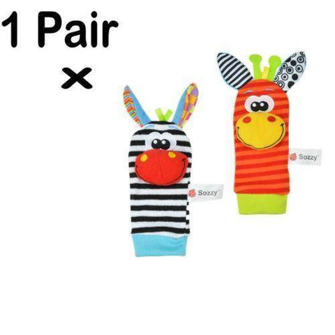 Image of Baby Rattles - Wrist Strap and Foot Socks - 36Bucks.com
